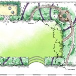 Plan de masse du futur jardin.