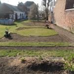 Vue d'ensemble des futures lignes du jardin