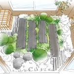 Dessin de conception du patio